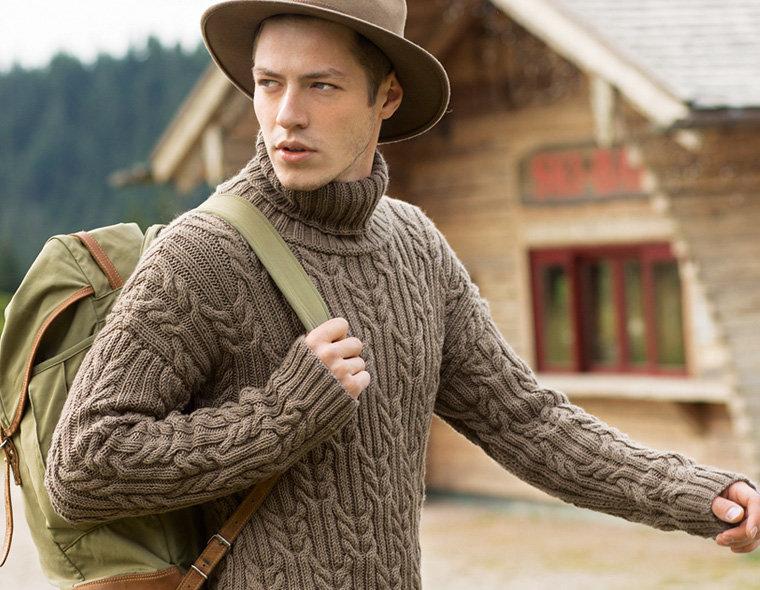 Мужские бежевые свитера