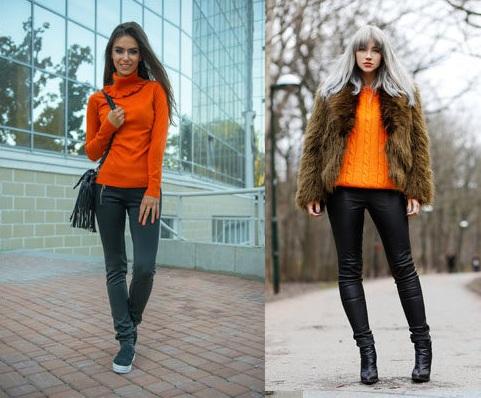 Варианты сочетания с другими элементами одежды