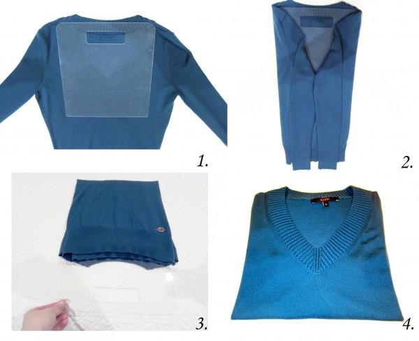 Как можно сложить свитер фото