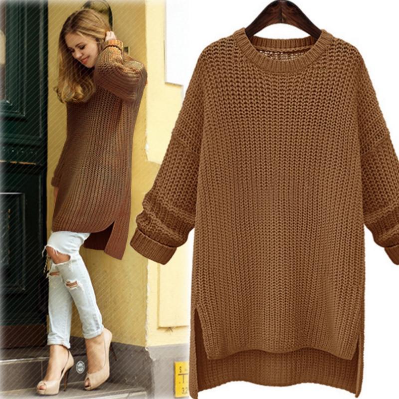 Модели длинных женских свитеров