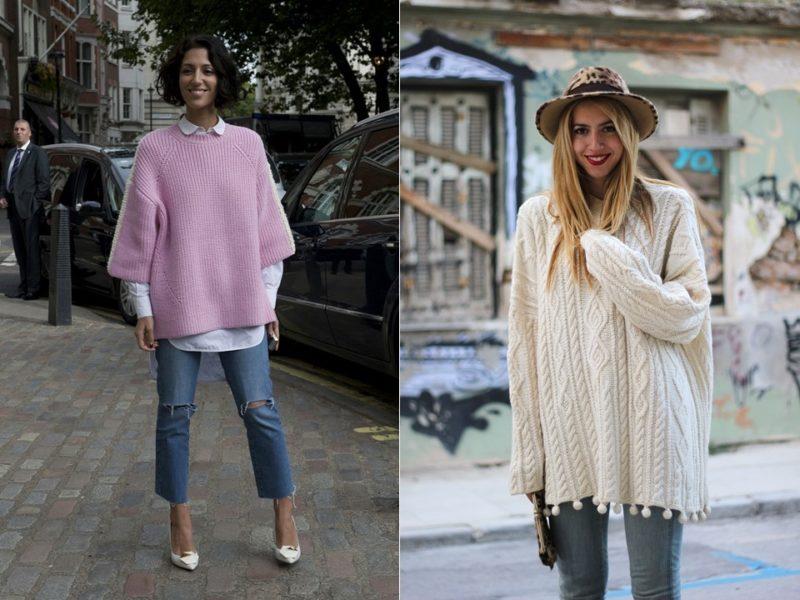 Как выбрать объемный свитер оверсайз?