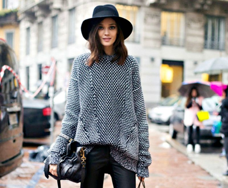 Как выбрать объемный свитер оверсайз? фото