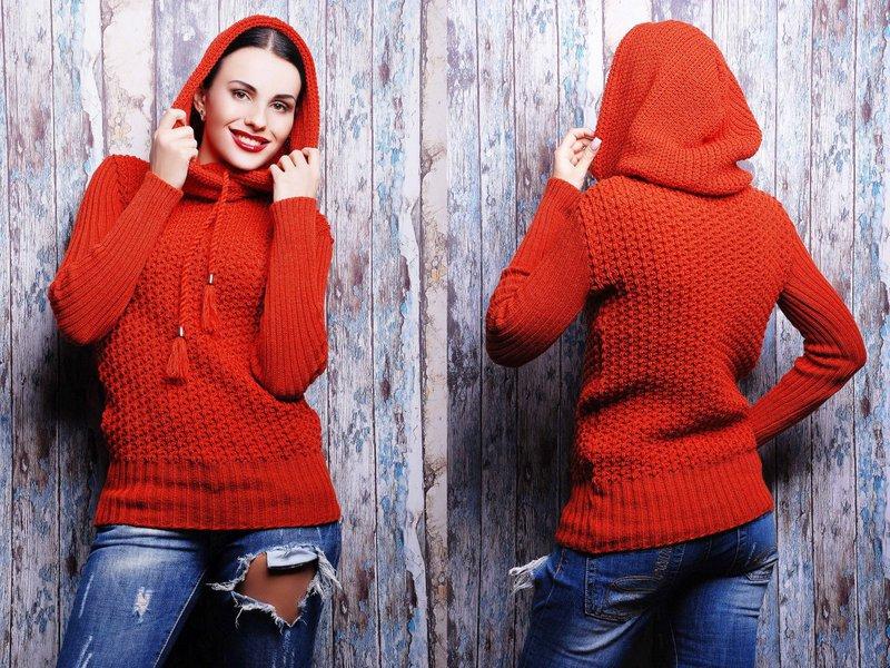 Модели длинных женских свитеров фото