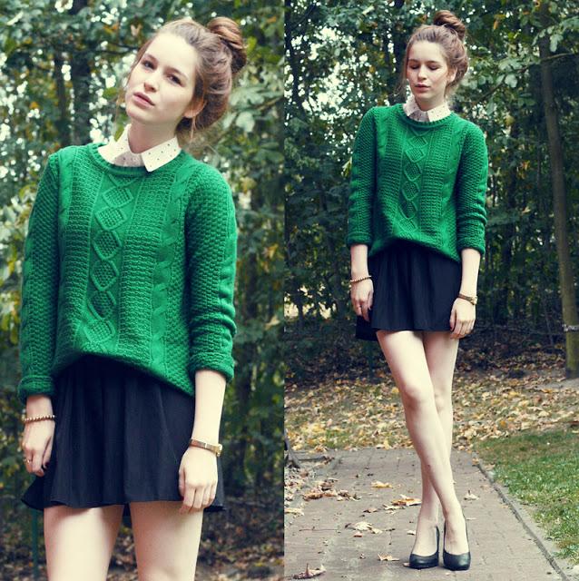 Варианты, когда юбку можно заправить в свитер