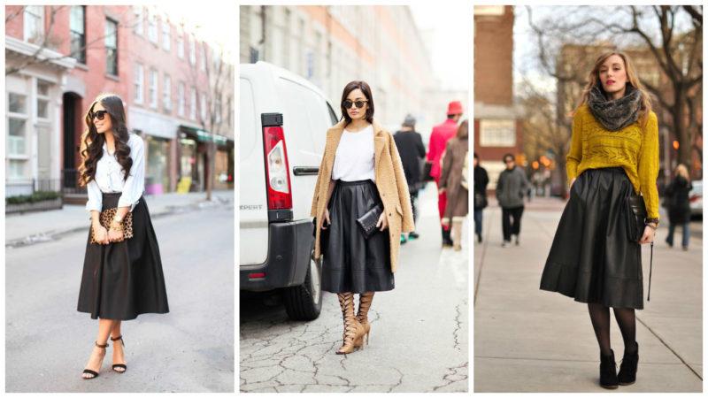 Какие модели кожаных юбок бывают фото