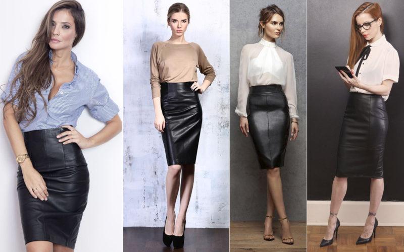 Какие модели кожаных юбок бывают